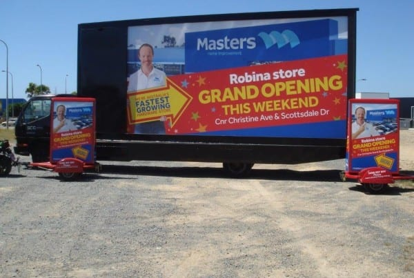 Truck and Scotter Advertising 2