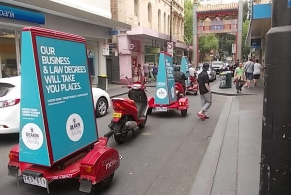 Scooter-Advertising---Deakin-Uni---Melbourne-CBD
