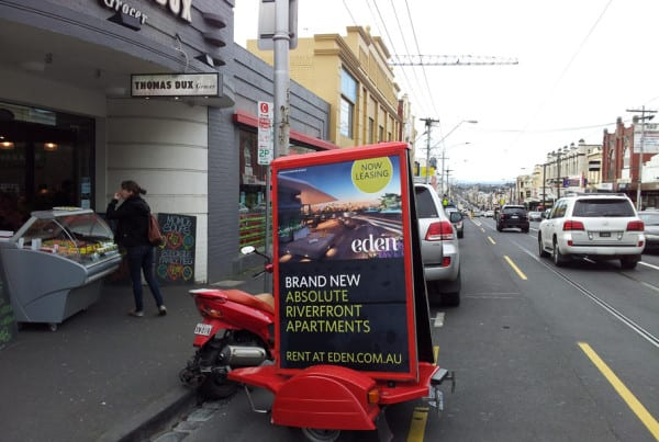 Scooter-Advertising---Eden-Apartments---Melbourne
