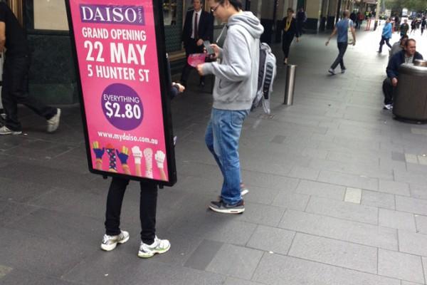 Walking-Billboards---Daiso---Sydney