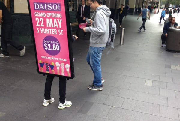 Walking-Billboards---Daiso---Sydney